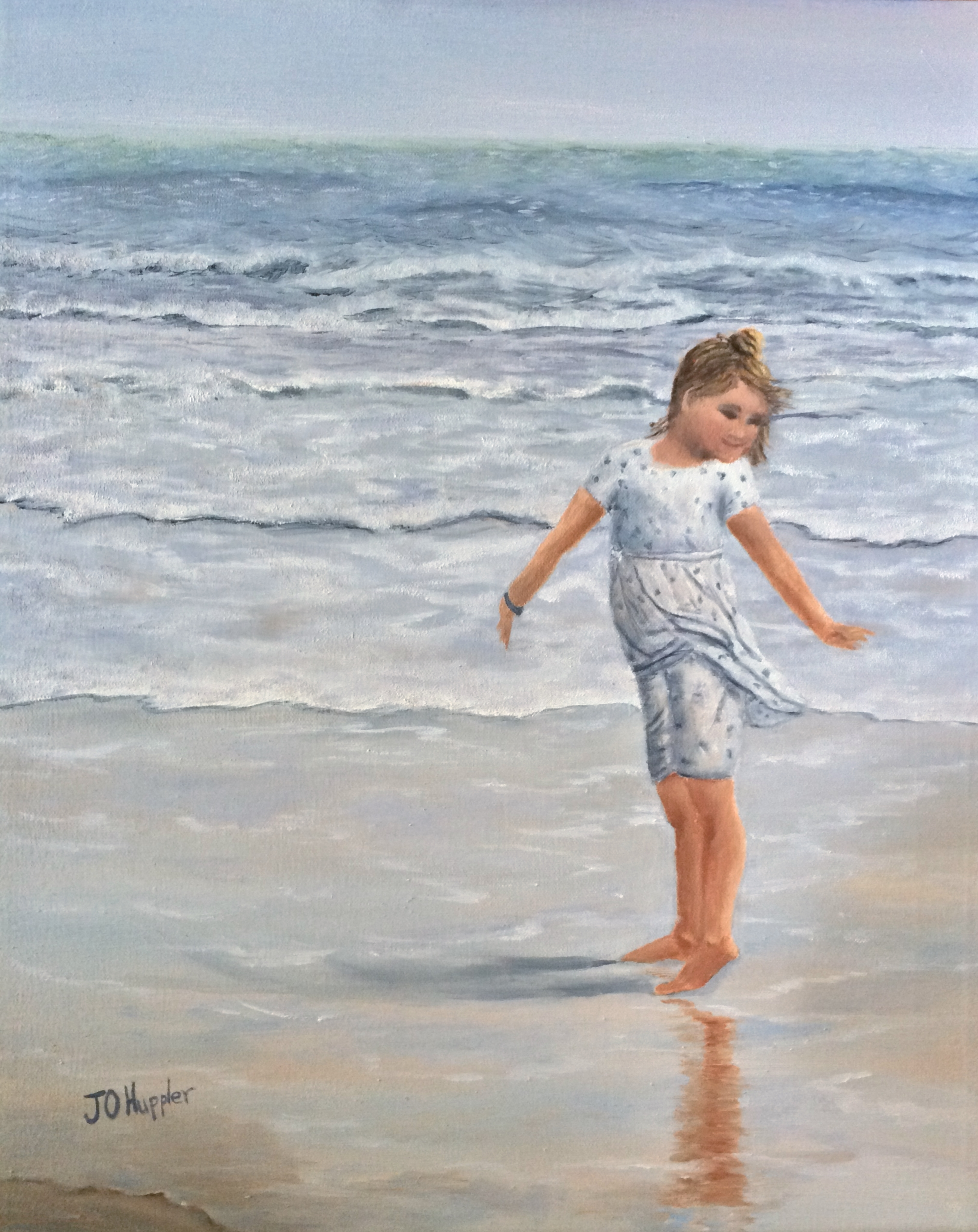 Princess Katie 20x16 Original Oil Painting On Canvas Of A Little Girl Dancing